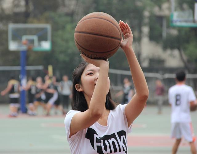 QQ女生打篮球